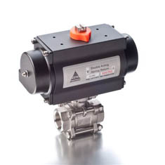 BSP 3 Piece Full Bore Actuated Ball Valve