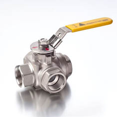 BSP 3 Way T Port Ball Valve